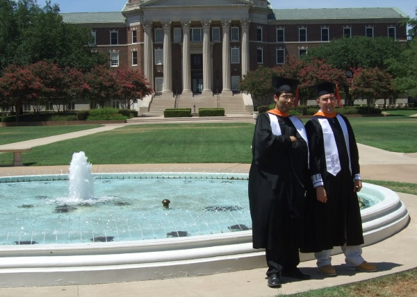 Dave and Hemanshu at graduation